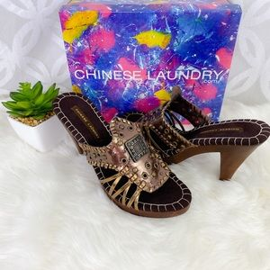 Chinese Laundry Global Shimmer Platform Sandals
